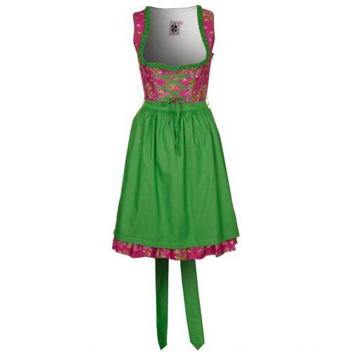 German Princess Cocktailkleid / festliches Kleid pink/ green