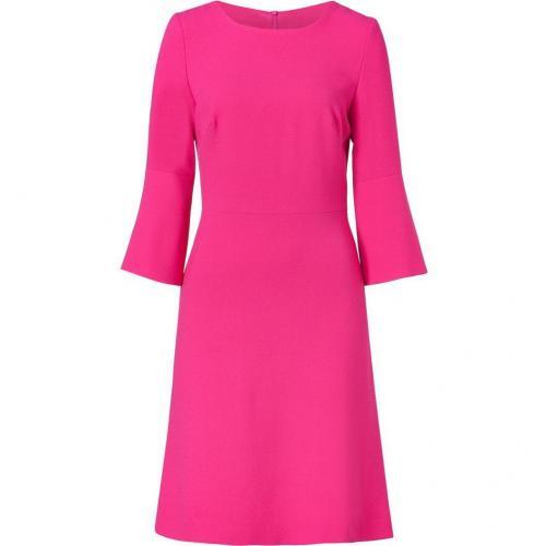 Goat Fuchsia 3/4 Sleeve Wool Crepe Dress