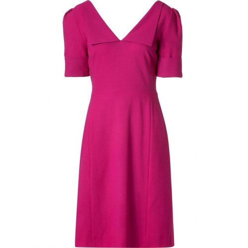 Goat Magenta Richmond A-Line Wool-Crepe Dress