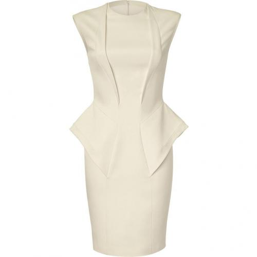 Hakaan Ecru Peplum Sheath Dress