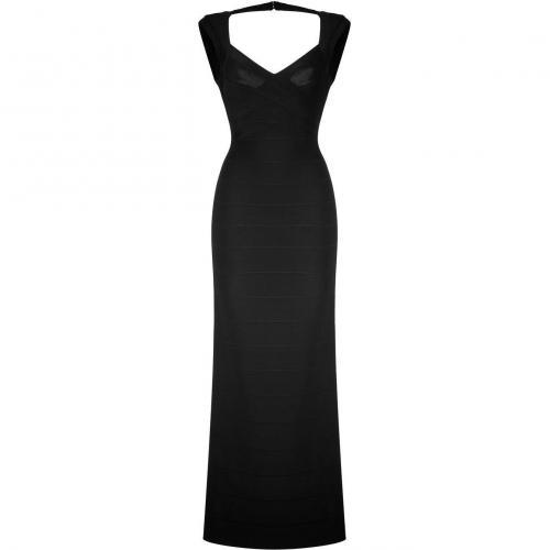 Hervé Léger Black Sleeveless Bandage Gown