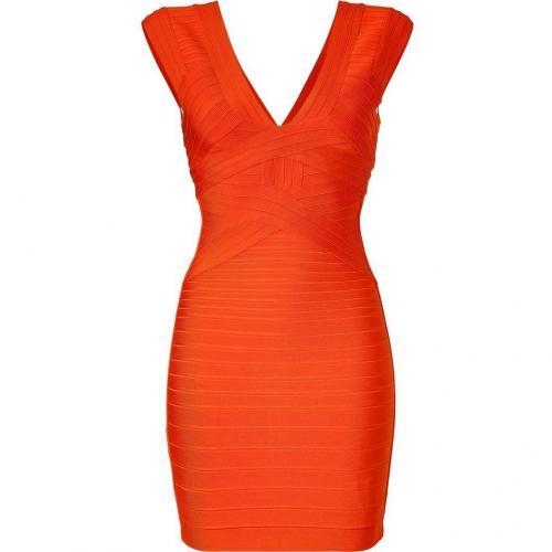 Hervé Léger Mandarine Bandage Dress