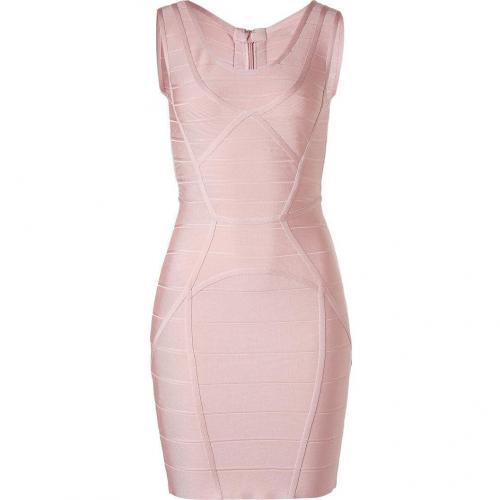 Hervé Léger Pale Pink Mini Bandage Dress