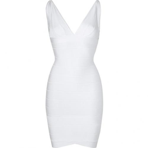 Hervé Léger White Bandage Dress