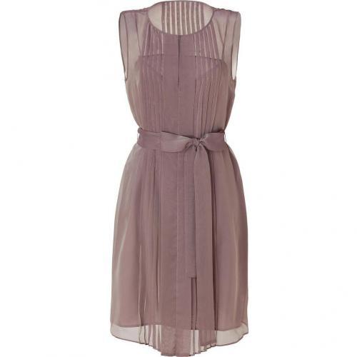 Hoss Intropia Antique Mauve Pleated Dress