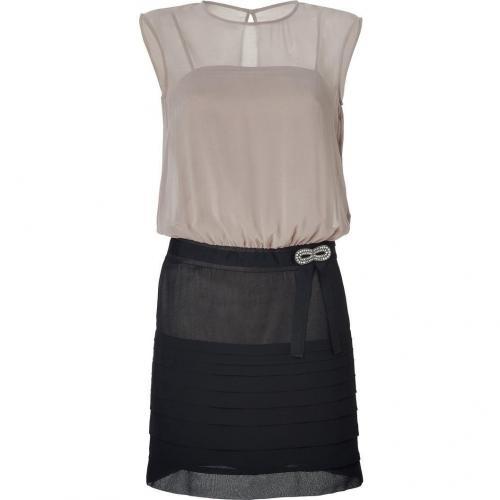 Hoss Intropia Black and Almond Embellished Dress