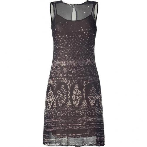 Hoss Intropia Black Multi Color Print Silk Dress
