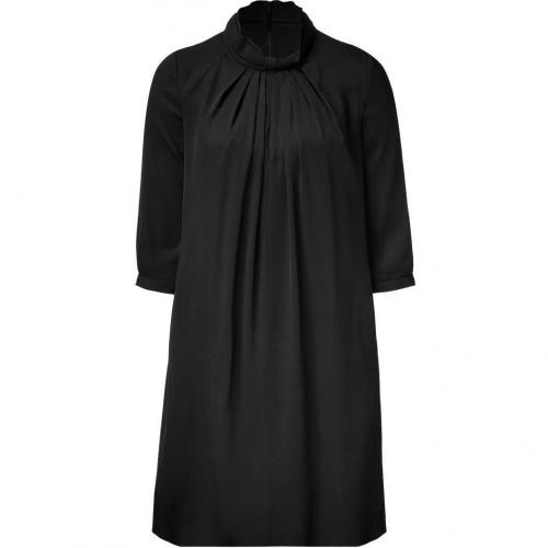 Hugo Black Keliesa Stretch Silk Kleid