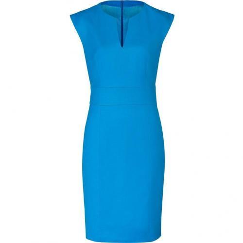 Hugo Turquoise/Aqua Wool Stretch Kacy Dress