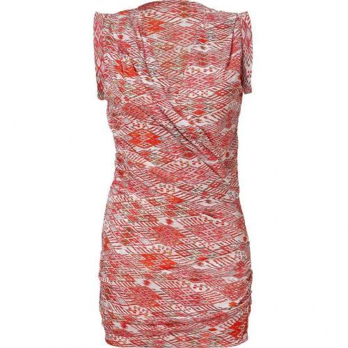 Iro Rouge Mini Dresses with Low V-Neck
