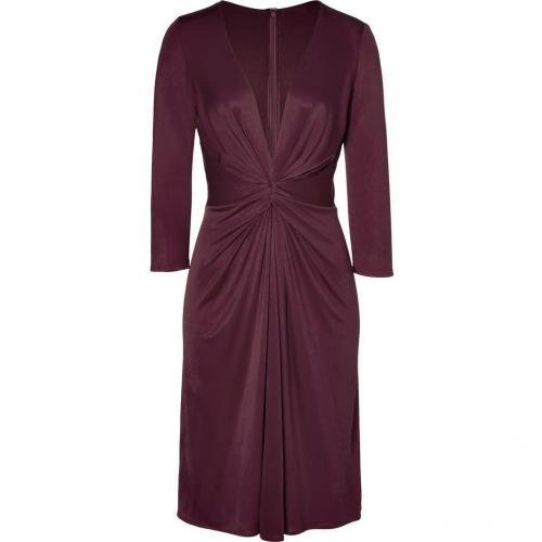 Issa Aubergine Silk Jersey Dress for STYLEBOP.com