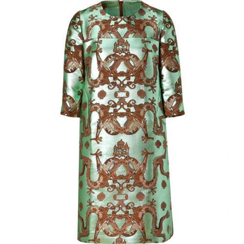 Issa Green Metallic Dragon Shift Dress