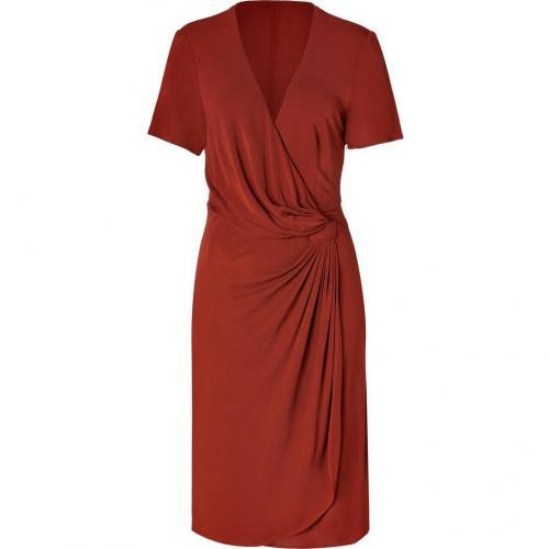 Issa Rust Viscose Jersey Side Drape Dress for STYLEBOP.com