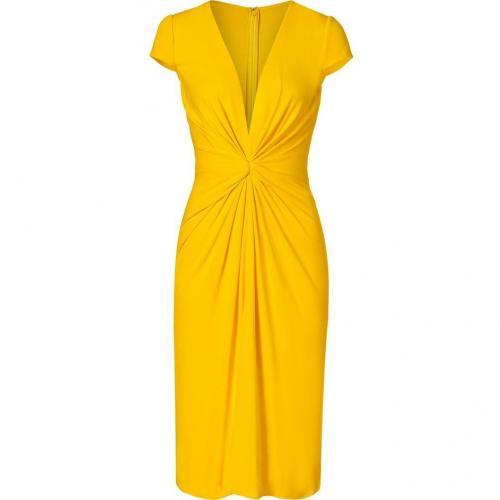 Issa Saffron Yellow Cap Sleeve Silk Jersey Dress