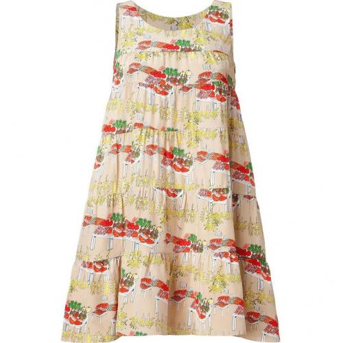 Issa Sand Babydoll Silk Jersey Dress