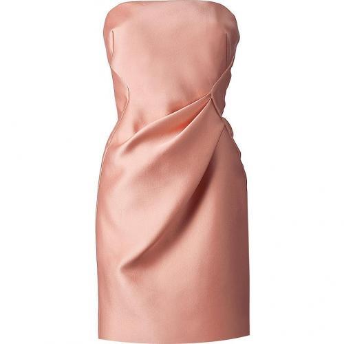 J Mendel Sunset Amber Satin Strapless Dress