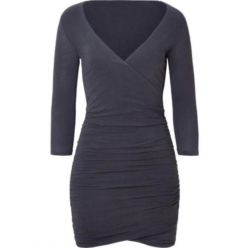 James Perse Abyss Fitted Wrap Dress
