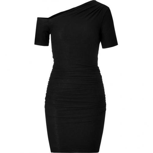 James Perse Black Bare Shoulder Dress