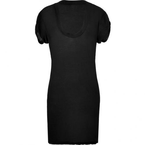 James Perse Black Draped S/S Dress
