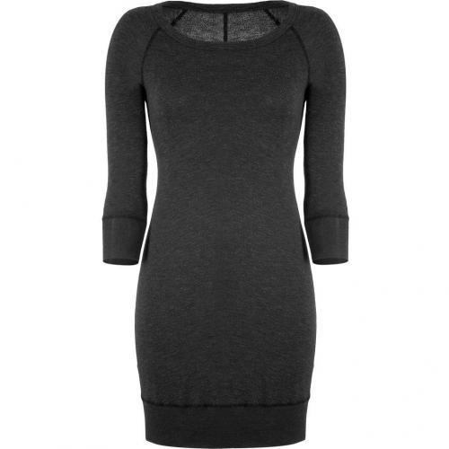 James Perse Black Raglan Sleeve Sweatshirt Dress