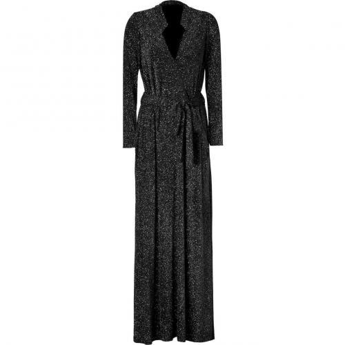Jay Ahr Black Belted Lurex Gown