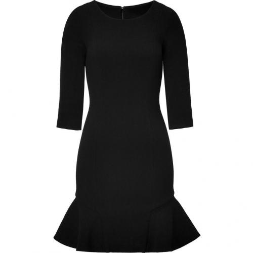 Jay Ahr Black Ruffle 3/4 Sleeve Dress