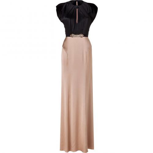 Jenny Packham Black/Baileys Embellished Silk Gown