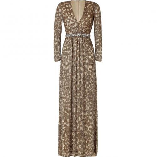 Jenny Packham Gold Sequin Gown