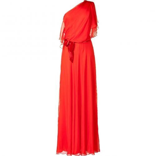 Jenny Packham Red Flame One Shoulder Dress