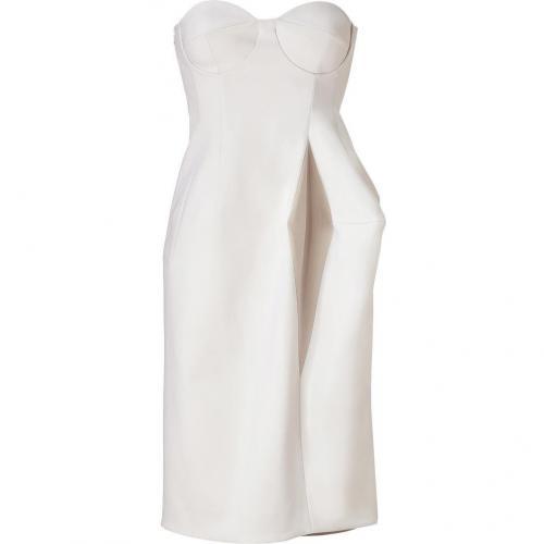 Jil Sander Birch/Almond/Lavender Wool Bustier Dress