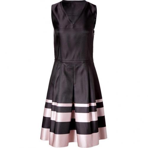 Jil Sander Navy Black/Rose Silk-Satin Dress