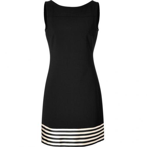 Jil Sander Navy Black Sheath Dress with Satin Trim
