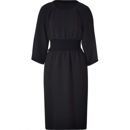 Jil Sander Navy Elastic Waist Dress