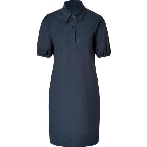 Jil Sander Navy Navy Cotton Stretch Shirtdress
