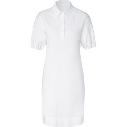 Jil Sander Navy White Cotton Stretch Shirtdress