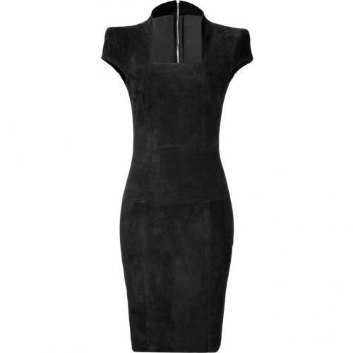 Jitrois Black Suede Gattaca Dress