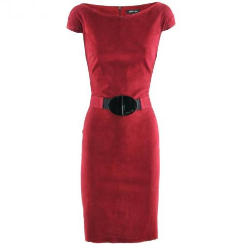 Jitrois Raspberry Velours Dress Atlantique