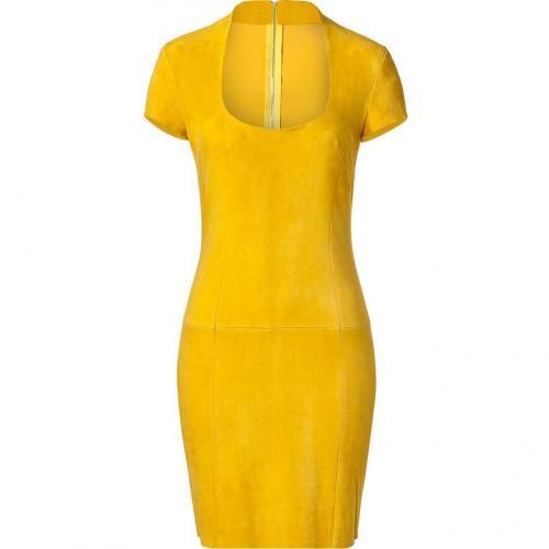 Jitrois Yellow Suede Dress