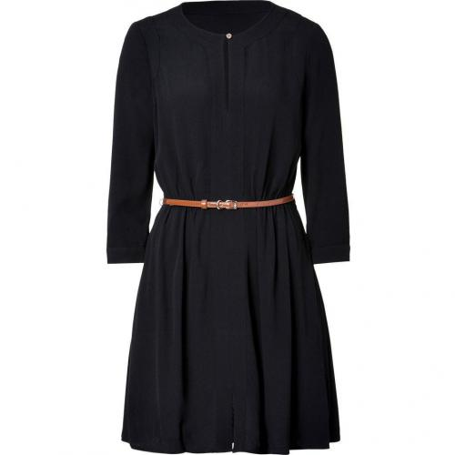 Juicy Couture Black Crepe Belted Dress
