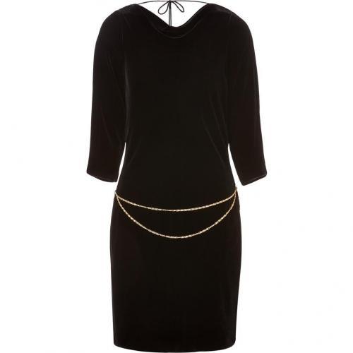 Juicy Couture Pitch Black Velvet Party Perfect Minidress