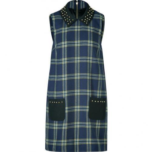 Juicy Couture Regal Blue Plaid Eton Dress