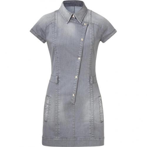 Just Cavalli Silver Grey Denim Dress