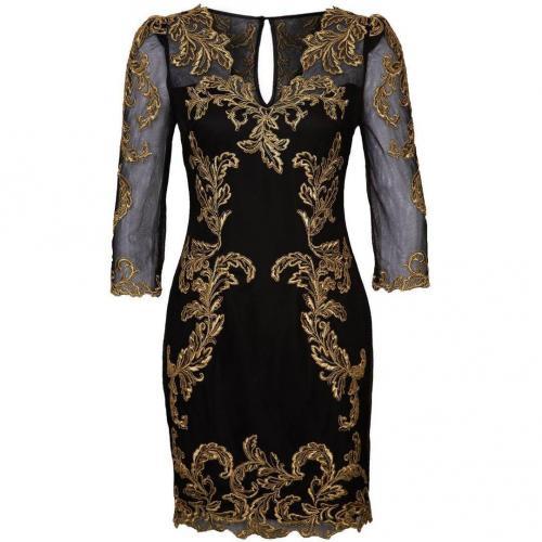 Karen Millen Baroque Cocktailkleid / festliches Kleid black/gold