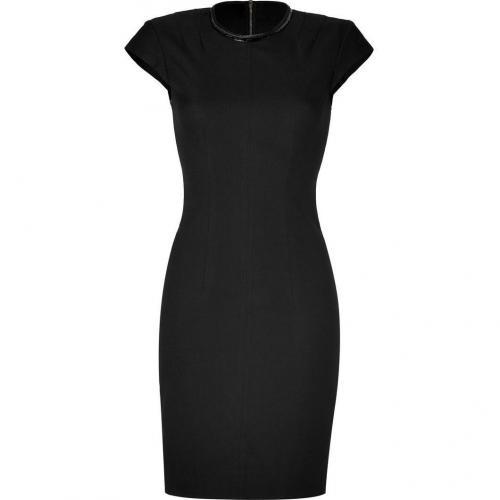 LAgence Black Cap Sleeve Sheath Dress