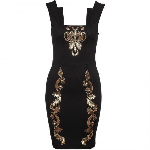 Lipsy Cocktailkleid / festliches Kleid black/gold