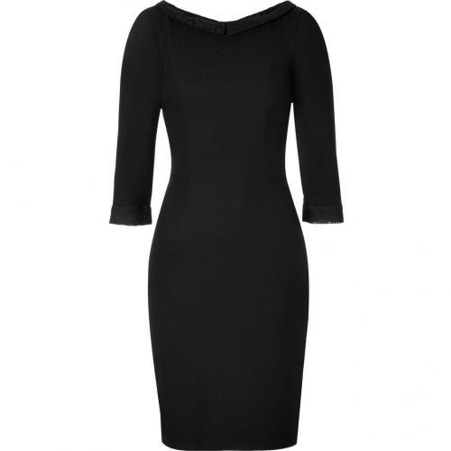 LWren Scott Black Lace Trim Sheath Dress