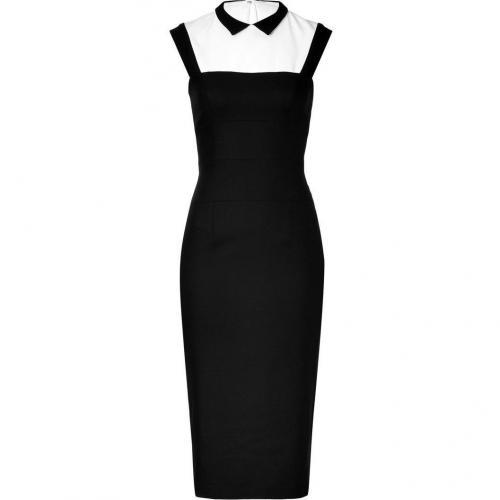 LWren Scott Black/White Wool-Blend Headmistress Dress
