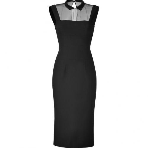 LWren Scott Black Wool-Blend Headmistress Dress