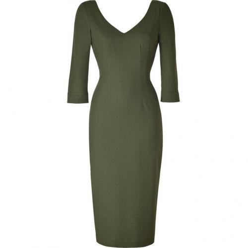 LWren Scott Olive Khaki Deep V-Neck Dress