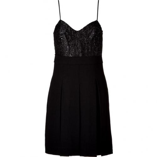 Marc by Marc Jacobs Black Pleated Wool Crepe Dress
